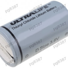 Baterie D, R20, litiu, 3,6V, Ultralife, cu terminale-050252