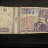BBR1 - 5 000 LEI - EMISA IN ANUL 1993 - Bancnota romaneasca