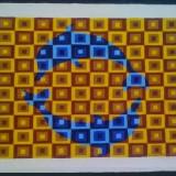 Tablou in ulei pe panza - Pictor strain, Nonfigurativ, Abstract