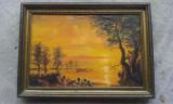 Tablou peisaj toamna apus - CONSTANTIN GALCEAVA
