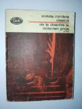 Poezia romana clasica de la Dosoftei la O. Goga  ( vol. III)Ed. Minerva 1976, Alta editura
