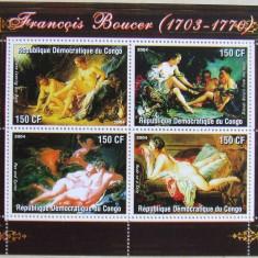 CONGO 2004 - PICTURA NUDURI BOUCER, 1 M/SH NEOBLITERATA, POSTA PRIVATA - PP 323, Arta