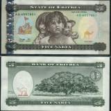 !!! ERITREEA - 5 NAKFA 1997 - P 2 - UNC - bancnota africa