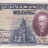 (6) BANCNOTA SPANIA - 25 PESETAS 1928 (15 AUGUST 1928)