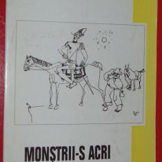 EMIL CATALIN NEGHINA-MONSTRII-S ACRI (2003, coperta CONSTANTIN PILIUTA, dedicatie) - Carte poezie