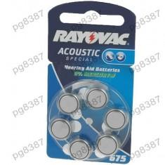Baterie AC675, R1154, zinc-aer (ZnO2), 1,4V, Rayovac, pentru aparate auditive-050269