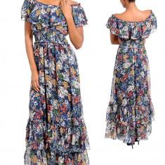 Rochie Lunga cu Imprimeu Floral - Rochie de zi, Marime: S, Culoare: Din imagine