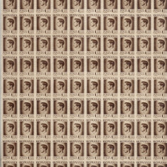 COALA TIMBRE REGELE MIHAI 1 LEU LEI 1945-1947 - Timbre Romania