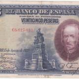 (4) BANCNOTA SPANIA - 25 PESETAS 1928 (15 AUGUST 1928)