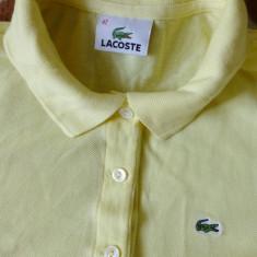 Tricou Lacoste; marime 42: 49 cm bust, 50.5 cm lungime, 38.5 cm umeri; bumbac - Tricou barbati Lacoste, Culoare: Din imagine, Maneca scurta