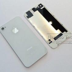 Iphone 4 - Capac/Spate Baterie Sigilat din Sticla (Gorilla Glass) Alb - Capac baterie, iPhone 4/4S