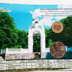 UCRAINA UKRAINA set album 5 HRYVEN 2011 1 HRYVNIA 2012 Euro 2012 Kharkiv UNC **, Europa