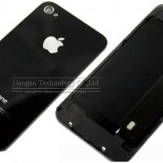 Iphone 4 - Capac/Spate Baterie Sigilat Sticla (Gorilla Glass) Negru - Capac baterie, iPhone 4/4S