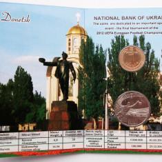 UCRAINA UKRAINA set album 5 HRYVEN 2011 1 HRYVNIA 2012 Euro 2012 Donetsk UNC **, Europa