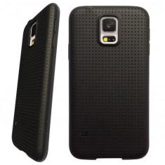 Carcasa de protectie + folie ecran soft TPU pentru Samsung Galaxy S5 i9600 G900 - Husa Telefon Samsung, Negru