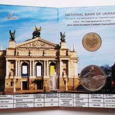 UCRAINA UKRAINA set album 5 HRYVEN 2011 1 HRYVNIA 2012 Euro 2012 Lviv UNC **, Europa