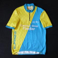 Tricou ciclism Merboso, Swiss Made; 51.5 cm bust, 59 lungime, 44 cm umeri - Echipament Ciclism