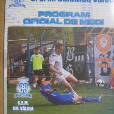 CSM Rm.Valcea - FCM Tg.Mures (30 mai 2009) - Program meci