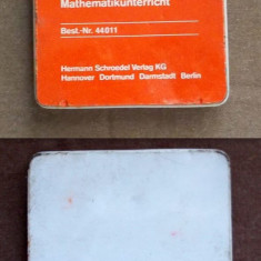 24 bunte Plattechen fur den Mathematikunterricht - forme geometrice pentru matematica / geometrie, Germania, vechi, vintage, colectie, anii '70