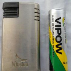 Bricheta Metalica Winston functionala reincarcabila ( cu gaz ) - Bricheta Zippo, Moderna (1970 -acum)