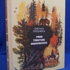 CARTE COPII ~ GHENADI SNEGHIRIOV - PRIN TINUTURI INDEPARTATE * DESENE N.USTINOV - BUCURESTI - 1981 - Carte de povesti