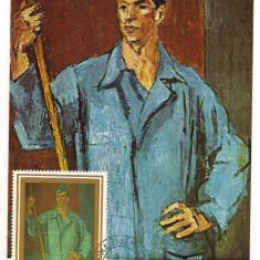 Ilustrata maxima-HENRI CATARGI-Muncitor, Romania de la 1950, Arta