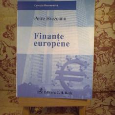Petre Brezeanu - Finante europene - Carte de vanzari