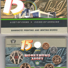 SV * SET MONETARIE UCRAINA 2013 : 7 monede + 1 medalie (argint german) PROOF, Europa