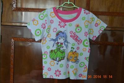 Pijama de vara fetita cu dovleac foto