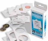 CUTIE (25 buc) cartonase rame plicuri autoadezive ptr monede Leuchtturn Ǿ 20 mm