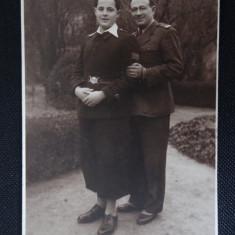 CP - Soldati cu sotia - Arad - Fotografie veche