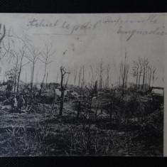 CP - Soldati pe campul de lupta - Fotografie veche