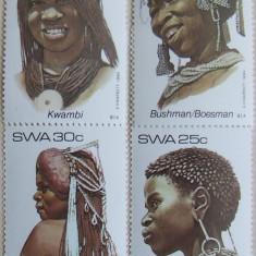 S.W.AFRICA 1984 - COAFURI 4 VALORI, NEOBLITERATE - AS 113