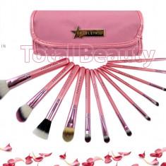 Trusa 12 pensule profesionale machiaj Fraulein38 Pink Candy set pensule machiaj - Pensula machiaj