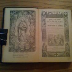 CARTE DE RUGACIUNE * ROZSASKERT * IMADSAGOK ES ENEKEK  --- Budapest, 1901, 408 p. ; text in limba maghiara; coperta originala din piele, Alta editura