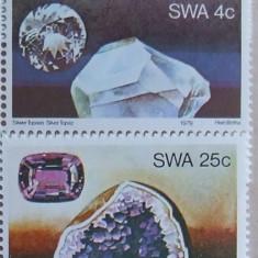 S.W.AFRICA 1979 - CRISTALE - MINERALE 4 VALORI, NEOBLITERATE - AS 112