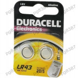 Baterie LR43, R1142, alcalina, 1,5V, Duracell-050322