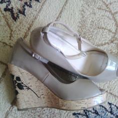 Sandale cu platforma - Sandale dama, Culoare: Bej, Marime: 39.5, Bej, Marime: 40