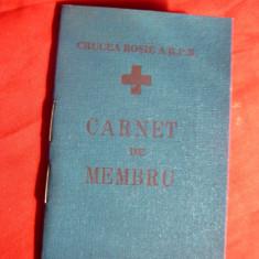 Carnet de Membru Crucea Rosie 1961 ,cu Timbre Fiscale