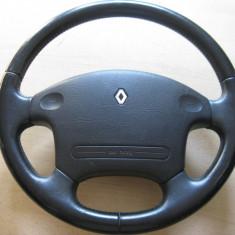 Volan cu airbag Renault Safrane, imbracat in piele