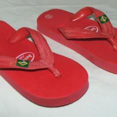 Papuci copii HAVANA CUBA - nr 25 - Slapi copii, Fete, Rosu