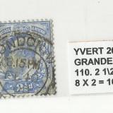 ANGLIA  1887-1900  -  110.21 \ 2P.-BLEU   -  STAMPILAT