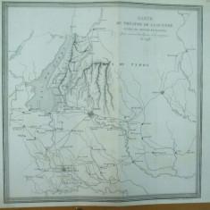 Harta teatrului de razboi purtat de Napoleon in Italia in 1796 intre raul Mincio si localitatea Adige Paris 1878 - Harta Italiei