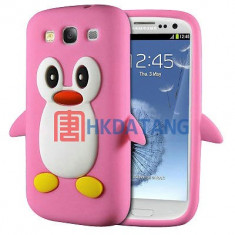 Husa silicon Samsung Galaxy S3 i9300 s3 neo + folie ecran - Husa Telefon Samsung, Roz