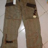 Pantaloni dama, moderni, marimea L-XL, treisferturi, moderni cu sclipici. NOI!, Marime: L, Culoare: Maro