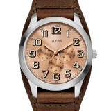 Ceas de mana barbatesc GUESS, model W0182G1 Escape Multifunction - Ceas barbatesc Guess, Fashion, Quartz, Inox, Piele, Calendar perpetuu