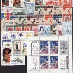 1343 - Lot timbre neuzate Romania,perfecta stare,serii complete