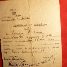 Certificat Alegator 1945 - Diploma/Certificat