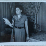 Fotografie originala din anii 50 ai poetei si traducatoarei evreice, Maria Banus, iudaism - Autograf