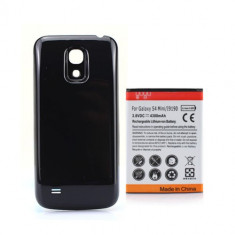 Baterie extinsa 4300 mAh Samsung Galaxy S4 mini i9190 capac negru + folie ecran, Li-ion